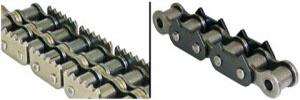 Роликовые цепи с зубчатыми пластинами
